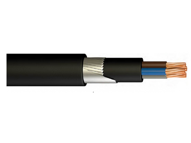 YVŞV (NYFGY) / YVZ3V (NYFGbY) / PVC INSULATED, YASSI STEEL ARMORED, LOW VOLTAGE, VERY CORE POWER CABLE