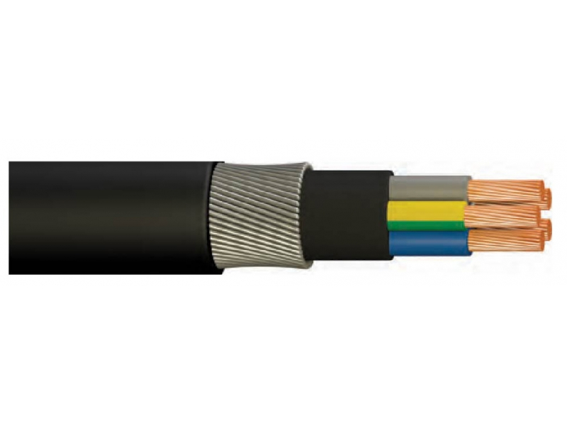 N2XRH-LSFSWA / HALOGEN FREE, FLAME INSULATED, XLPE INSULATED, ROUND STEEL ARMORED, VERY KEEPER LOWER CABLE