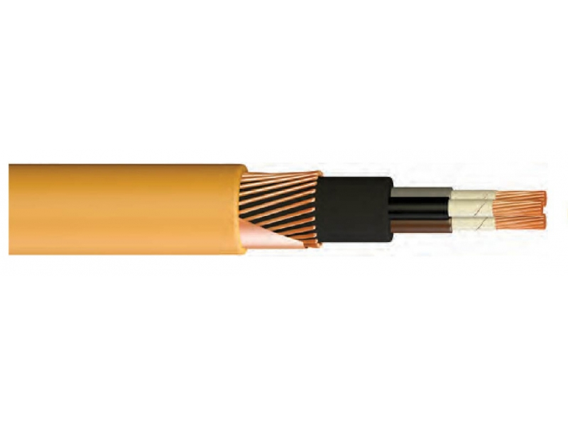N2XCH FE 180 / XLPE INSULATED, HFFR SHAPED, ARMORED, FIRE RESISTANT, CONCENTRATED UNDERWATER CABLE