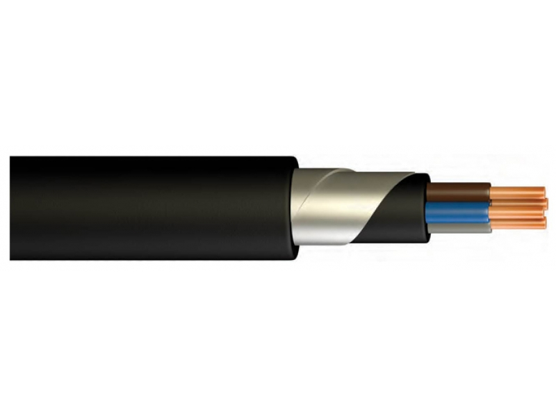 N2XBH / XLPE INSULATED, HFFR SHAPED, ARMORED, HALOGEN FREE MULTI-CALIBRATED UNDERWATER CABLE
