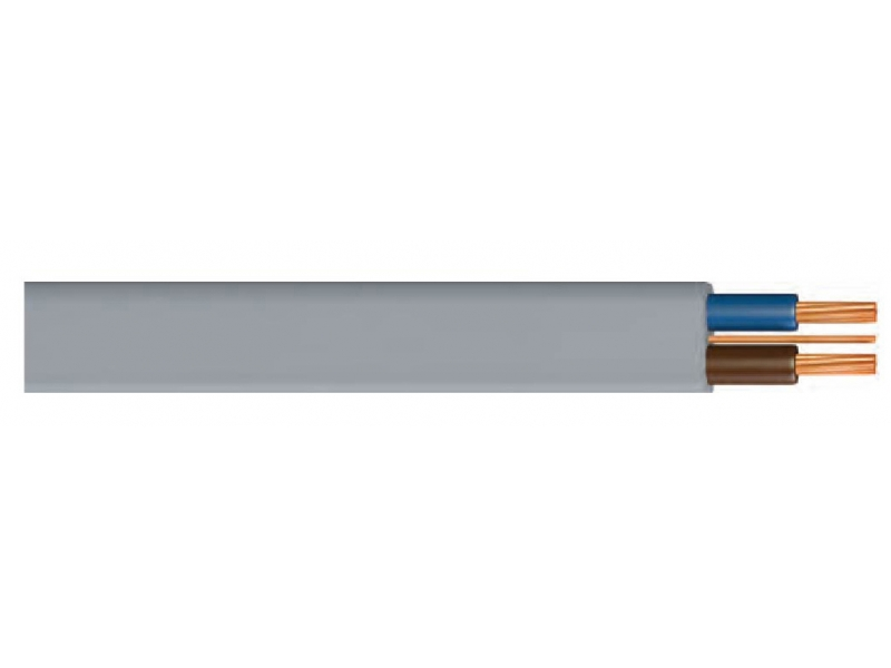 PVC FLAT CABLE WITH EARTH CORE - 624-Y / PVC, SINGLE, DOUBLE, THREE VENTILATED WIRED CABLE